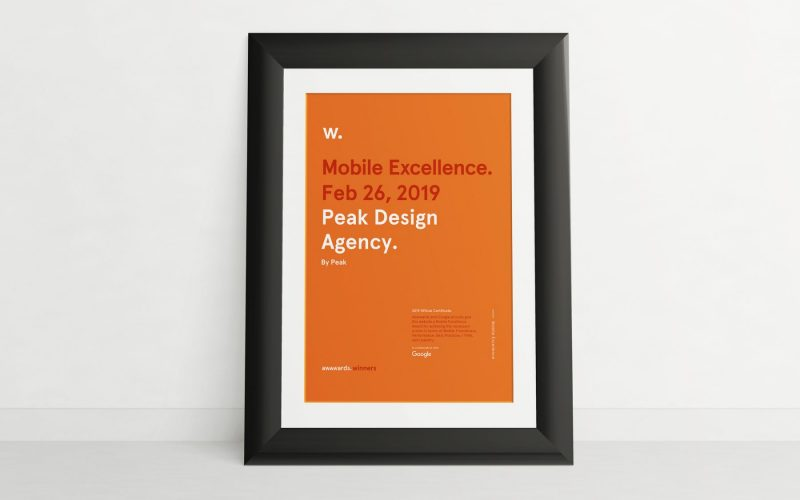 Mobile Excellence Award - Peak