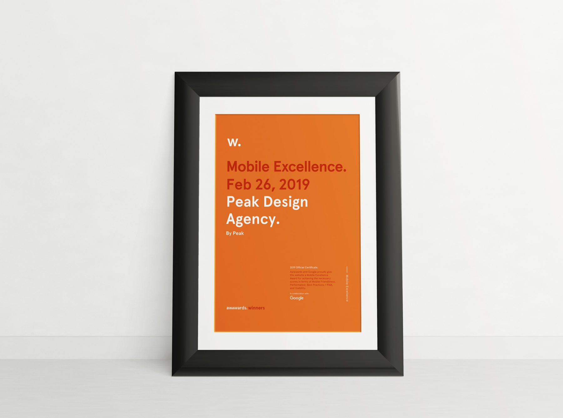 Peak Design Agency Award